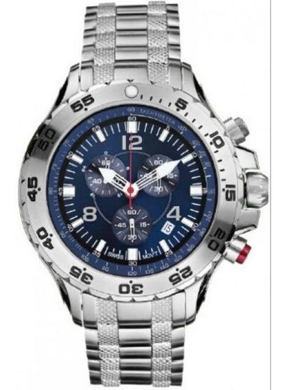 Relógio Vxv12 Nautica Azul Chronograph N19509g Puls. Aço