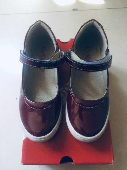 Zapatos Kickers De Niña En Perfecto Estado! Usados