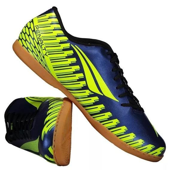 Tênis Futsal Penalty Storm Speed 9 - Azul/amarelo