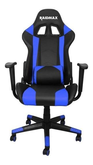 Cadeira Gamer Raidmax Drakon Dk 702 Preta Com Azul