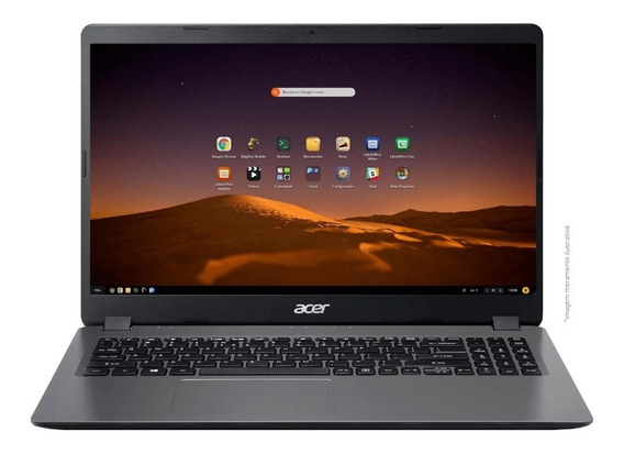 Notebook Acer Intel Core I3 4gb 1tb 15,6 Pol Cinza