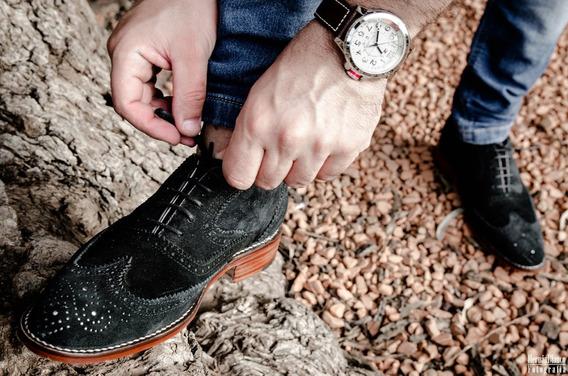 Zapato Para Hombre De Vestir, Moda, Calidad Y Gamuza Negro