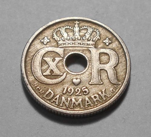 Dinamarca 10 Ore 1925 - Christian X - Km#822.1