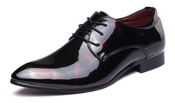 Sapato Social Masculino Couro Ecológico Sport Fino