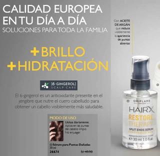 Serum Cabello Puntas Dañadas Aceite De Argan Hairx Oriflame