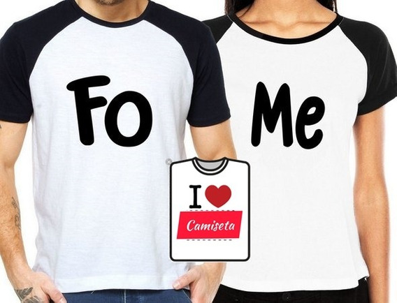 Camisetas Casal Pizza Fome Namorados Combo Com 4 Camisetas