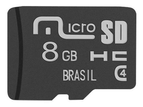 Cartão De Memória Multilaser Mc141 Micro Sd 8 Gb
