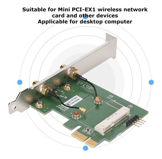 Wifi Wifi Placa Adaptador De Rede Mini Pci-ex1 Para Pci-e Wi