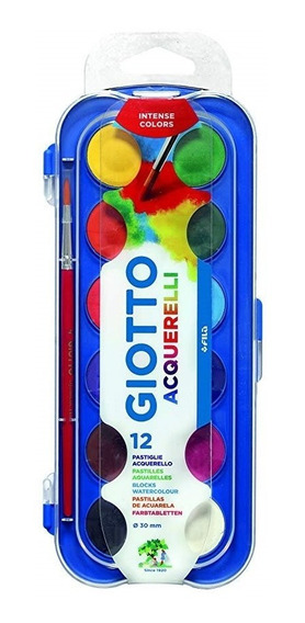 Acuarelas Grandes Giotto X12 Colores Es/plastico Microcentro