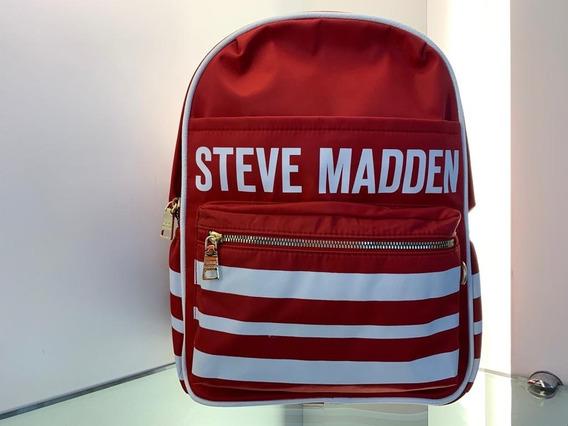 Bolsa Mochila Steve Madden Vermelha Importada Dos Eua