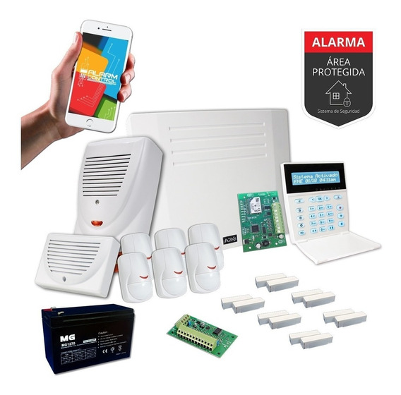 Alarma Domiciliaria Sensor Magnético Wifi Kit - Cableado