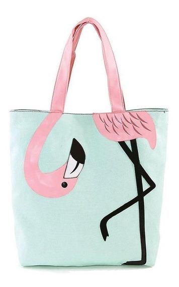 Bolsa Flamingo - Com Zíper - Bolsa De Lado - Exclusivo