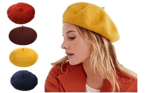 Boina Feminina Francesa Lã Acrílica