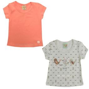 11.859/988 -kit C/ 2 Blusinhas Baby Look Meninas, Have Fun