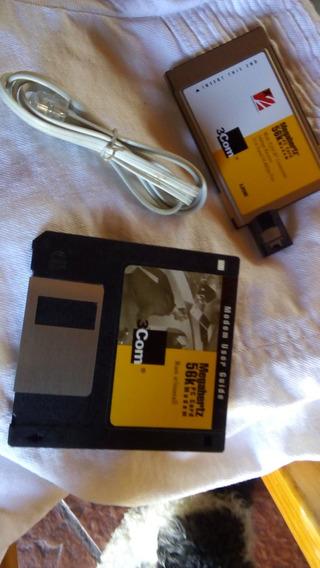Vintage Placa Pcmcia X2 3com Modem Para Notebooks Con Soft