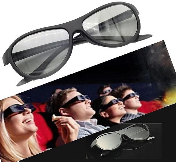 2x Oculos 3d Passivo Cinema Tv Pc Polarizado Tam Grande