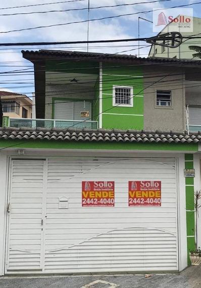 Sobrado 160m² Com 2 Suítes - Jardim Vila Galvão - Guarulhos/sp - So0076