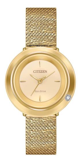 Relógio Citizen Eco-drive Ambiluna Diamond Ladies Gold