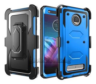 For Motorola Moto Z2 Play - Blue With Clip - Para Motor-4957