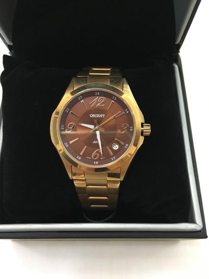 Relógio De Pulso Orient 1002 Rosé Marrom Chocolate Feminino