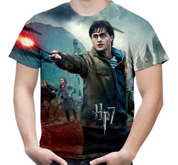 Camiseta Filme Harry Potter Masculina Estampa Total Md02