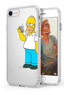 Capa Capinha Case Desenhada iPhone 7 Homer Simpsons