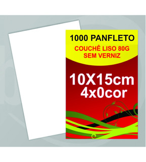 Panfletos, Couchê 80g Sem Verniz 150x105mm 1000 Unidades