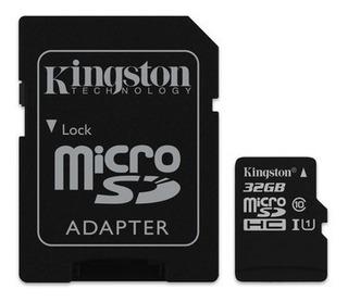 Memoria Micro Sd Kingston Canvas Select 32gb Adaptador Sd