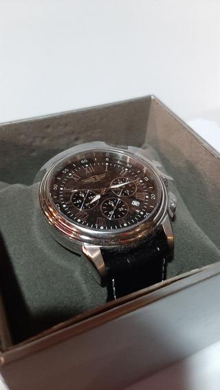 Relógio Invicta Importado Couro Ibi 90242-001
