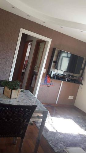 Apartamento Com 2 Dormitórios À Venda, 62 M² Por R$ 200.000 - Condomínio Embaixador - Nova Americana - Americana/sp - Ap1407
