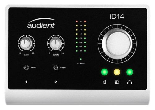 Interfaz De Grabación Placa De Sonido Ext Usb Audient Id14