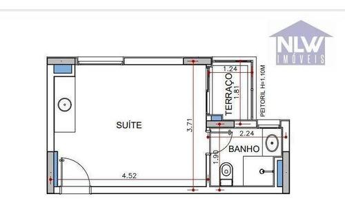 Imagem 1 de 10 de Studio Com 1 Dormitório À Venda, 24 M² Por R$ 369.598,00 - Consolação - São Paulo/sp - St0213
