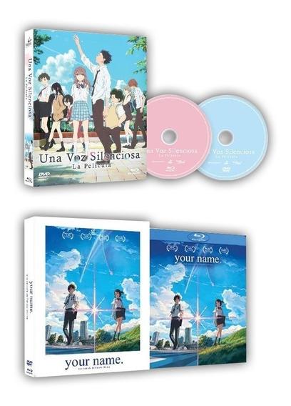 Your Name Y Una Voz Silenciosa La Pelicula Blu-ray + Dvd