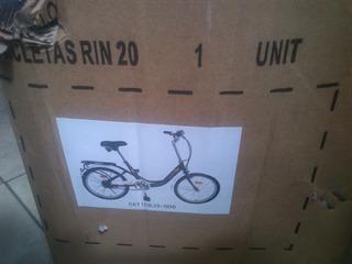 Bicicletas Rin 20. Color Negras