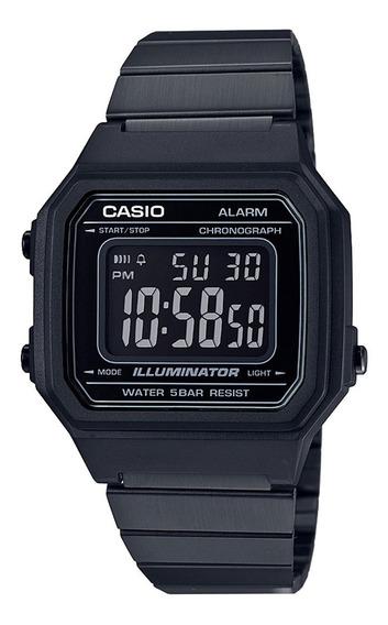 Reloj Casio Retro Negro B650 Original Acero Vintage Unisex*