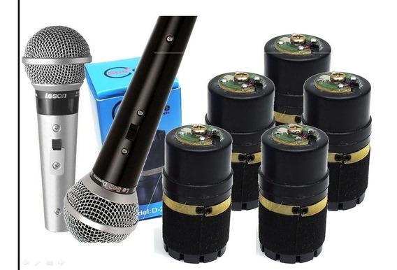 Kit 5 Cápsulas Para Microfone Le Son Sm58- A Mais Vendida! Melhor Qualidade! Com Garantia E Envio Imediato!!
