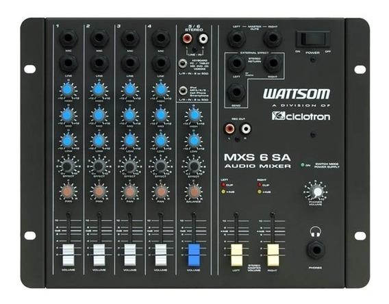 Mesa De Som Ciclotron Wattsom Mxs6 Sa 6 Canais