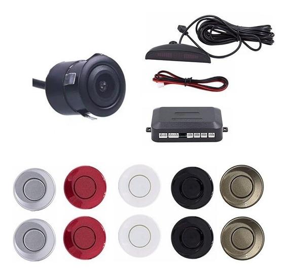 Kit Sensor De Estacionamento E Câmera De Ré Embutir