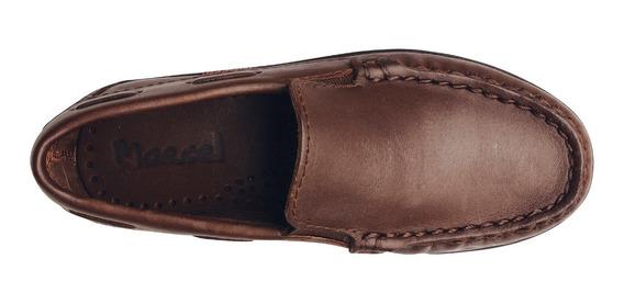 Zapato Náutico Legítimo Colegial Marcel 100% Cuero
