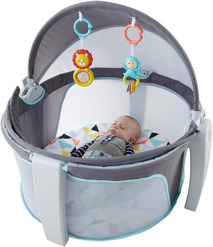 fd9bb5d84 Domo Gimnasio Cuna Portatil Para Bebe Plegable Fisher Price