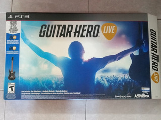 Guitar Hero Live Para Ps3 (videojuego En Cd Y Guitarra)