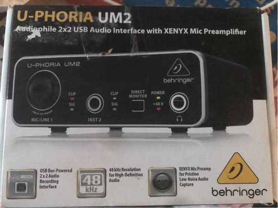 Interface Behringer U-phoria Um2 Usb