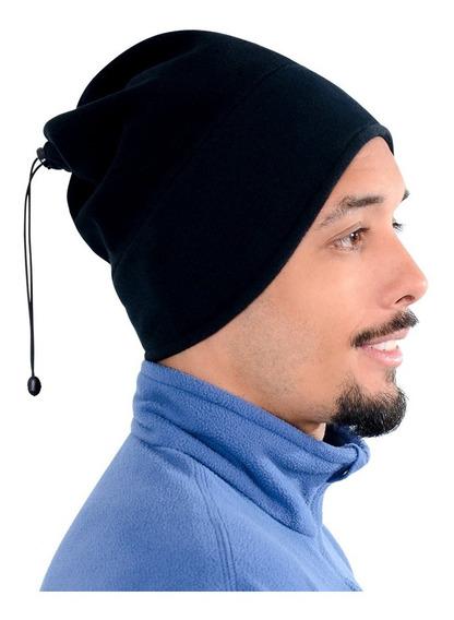 Touca Gorro Térmico Fleece Ajustável 3 Em 1 Frio Extremo