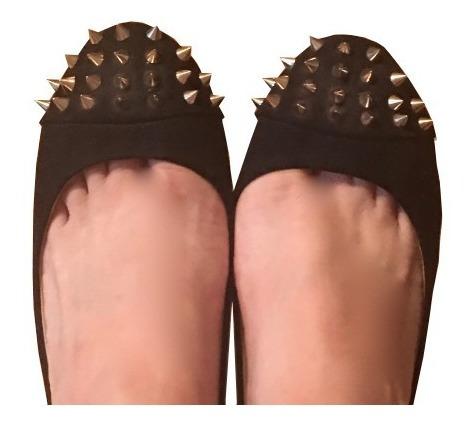 Padrisimos Zapatos Flats Zara Trafaluc Negros Piquitos Spike