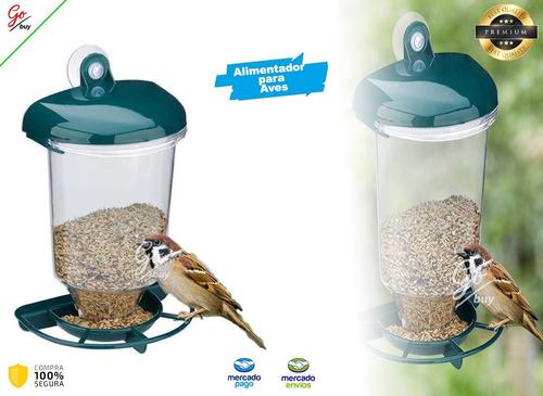 Alimentador Para Aves Comedero Casa De Pájaros Ventana Hogar