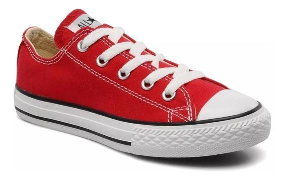 Converse Lona Baja Roja Ox Red Moda Urbana 156993c