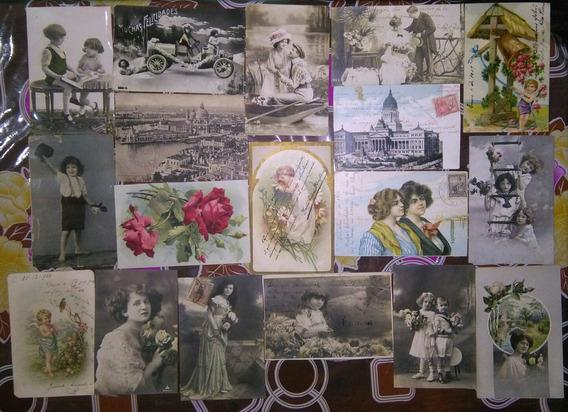 Lote 28 Tarjetas Postales Antiguas