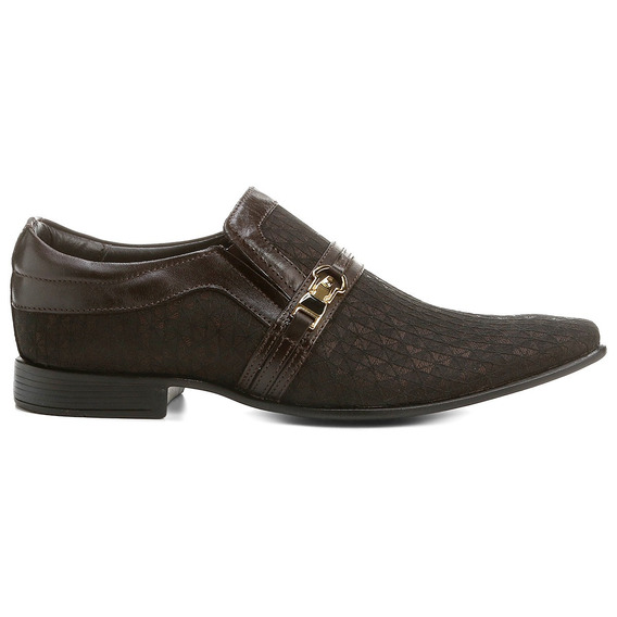 Sapato Social Rafarillo Premium Couro Marrom Masculino