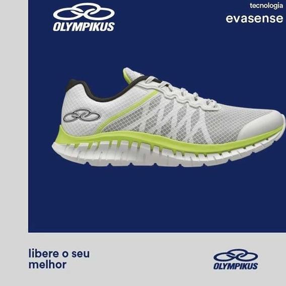 Tenis Olympikus Running Evidence 777 Branco Limão Sola Eva