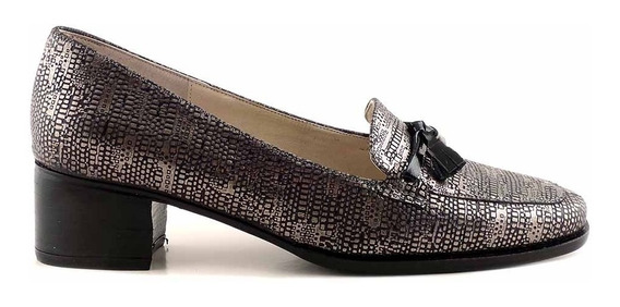 Zapato Cuero Mujer Briganti De Vestir Con Taco - Mccz33004